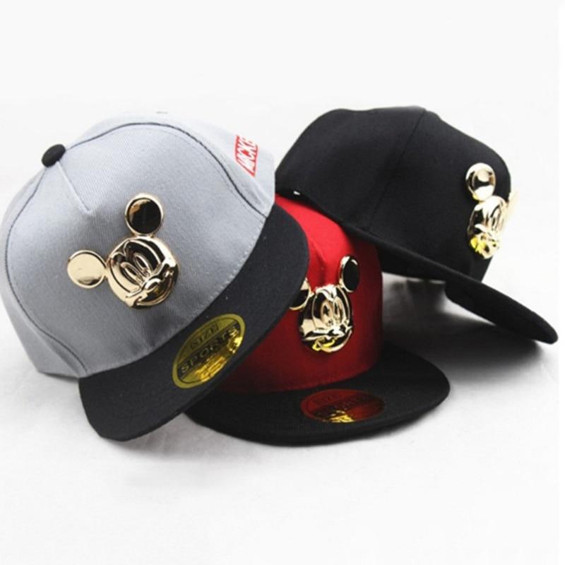 Mickey Cartoon Ear Hats Caps Baby Boy Caps Accessories For Kids Hats Cap 2018 Cute Baseball Cap Hip Hop Girl Hats 2-8Y