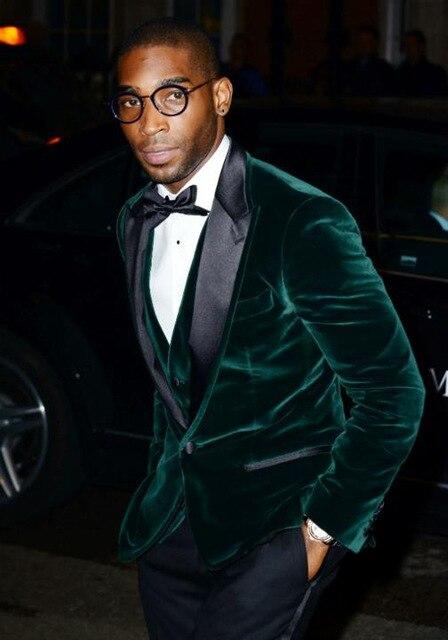 بدلة رجالية جديدة باللون الأخضر المخملي 3 قطع بدلة رجالية أحدث معطف سترة رجالي تصميم بدلة زفاف العرسان بدلة رجالية