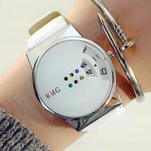 New Brand Leather Quartz Watch Mem Women Ladies Fashion Wrist Watch Bracelet Wristwatches  Clock fem