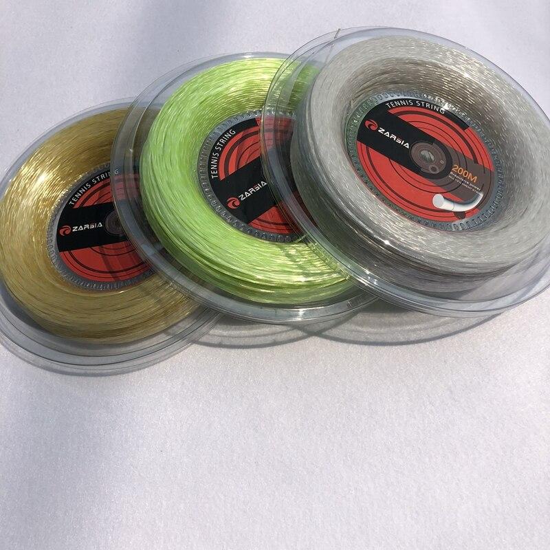 1 Reel ZARSIA 200m Big Reel Tennis nylon soft spinning tennis string tour xc 17l tennis string reel black