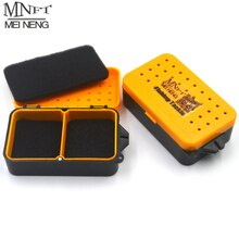 MNFT 6Pcs 2 Compartments Earthworm Worm Bait Alive Lures Fishing Tackle Box Portable Storage Baits Case