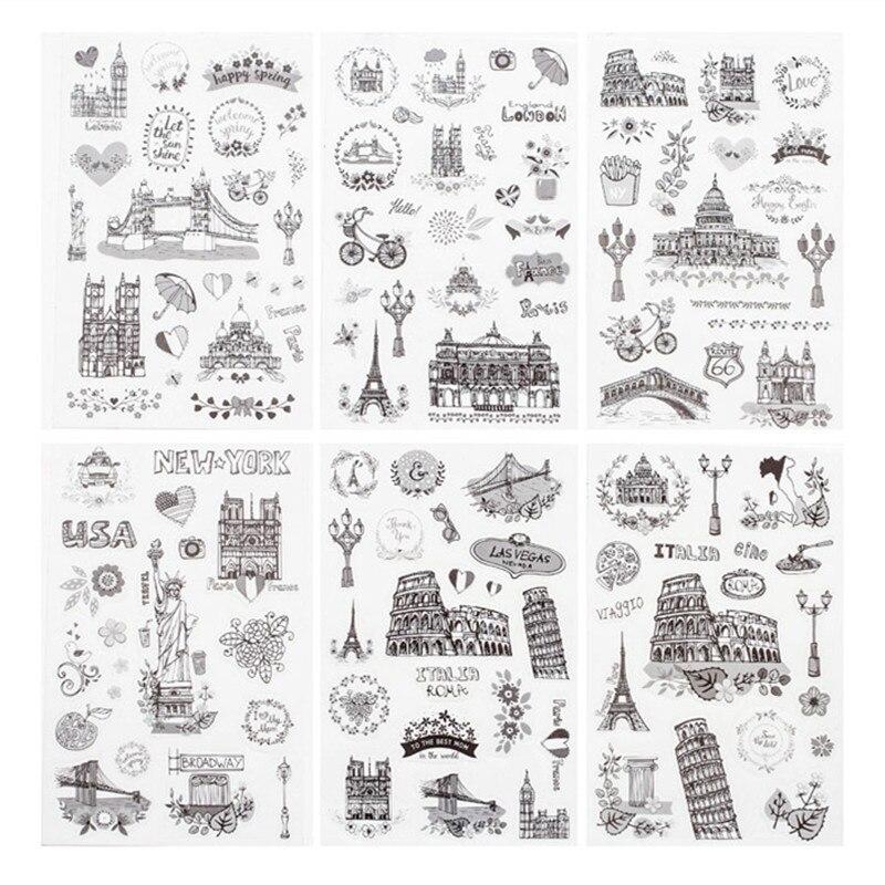 6-pz-pacco-di-viaggio-in-tutto-il-mondo-adesivi-washi-decorativi-scrapbooking-stick-etichetta-diario-cancelleria-album-adesivi