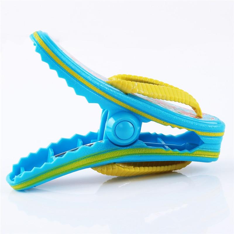 1pc clipes de plástico praia chinelo toalha clipes windbreak underwear bra ferramenta de suspensão colcha lavanderia meia clothespins