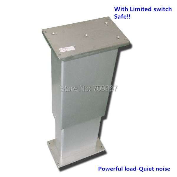 4000N 400KG 880LBS load 5mm/sec 0.2inch/sec speed 300mm 12inch stroke 24V DC lifting column adjustable height electric desk leg