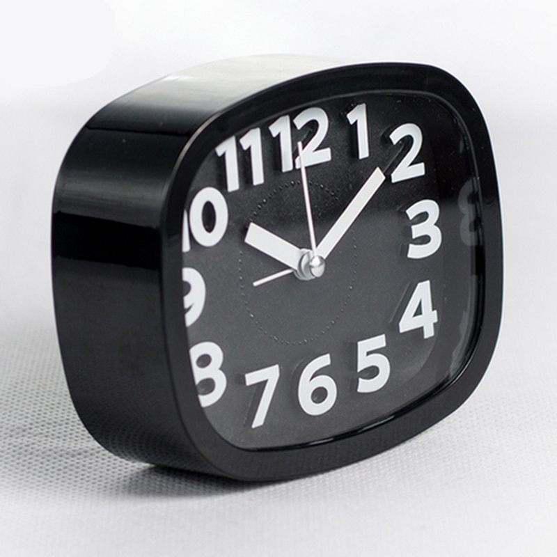 Pequeño posponer los relojes, reloj despertador con batería de Color caramelo, mesa de escritorio en casa silenciosa, bonito portátil analógico, creativo, mesita de noche para estudiante
