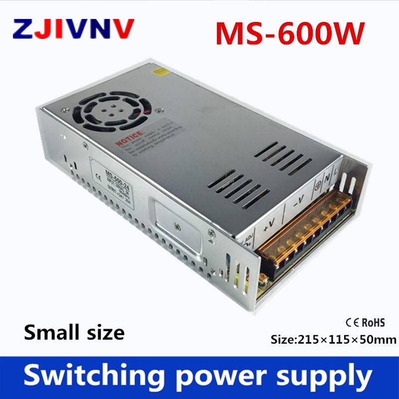 600W de alimentación de conmutación de tamaño pequeño de salida única AC-DC 5v 12V 12 v 13,8 V 15V 24V 27V 36V 48V 48V 50V 60V 72 v SMPS 12V 50A... 15v 40A