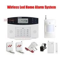 Capteur de porte sans fil GMS  systeme dalarme de securite domestique  ecran LCD  sirene filaire