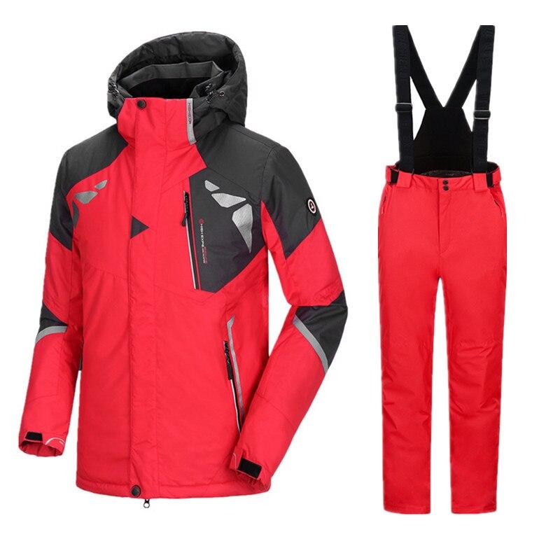 Chaqueta de esquí para hombre, traje de esquí para invierno, chaqueta de Snowboard para hombre, conjunto de Snowboard impermeable para invierno, traje deportivo para hombre, traje de esquí masculino 3XL