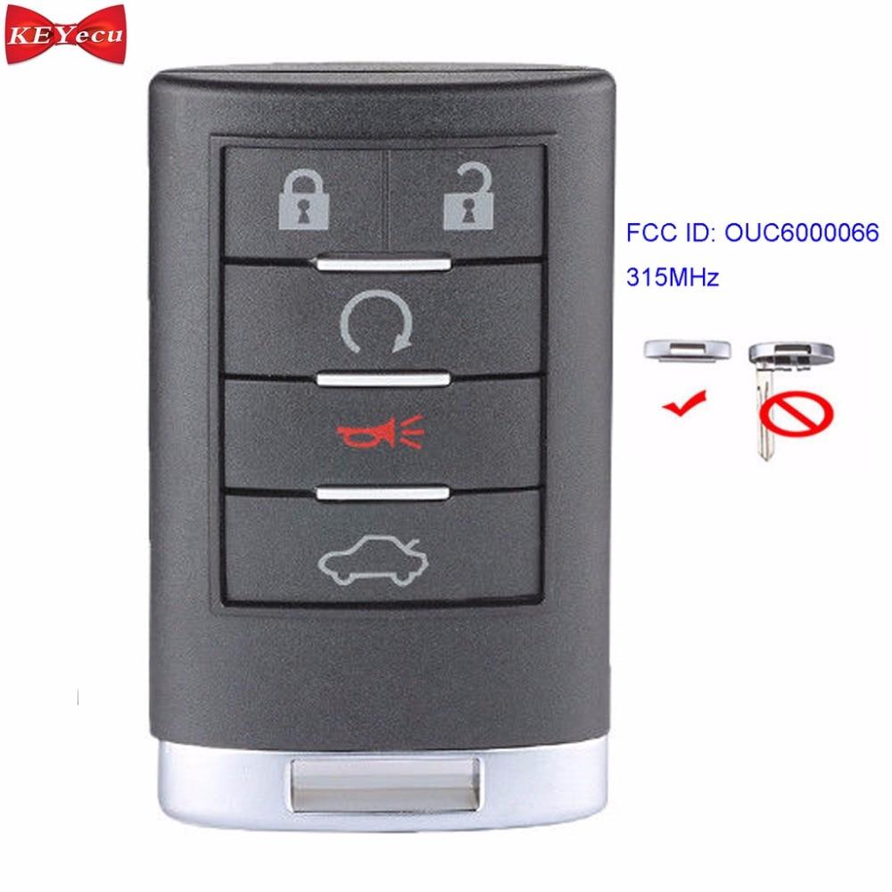 Llave para Buick Lucerna 2006 2007 2008 2009 2010 2011 315 llave de coche de Control remoto Fob MHz 5 botones OUC6000066