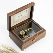 Walnut Music box music Box Birthday creative gift Free shipping