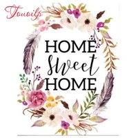 Peinture de diamant 5d a faire soi-meme  broderie de fleur de maison douce  point de croix  mosaique  strass carres et ronds  decoration de maison