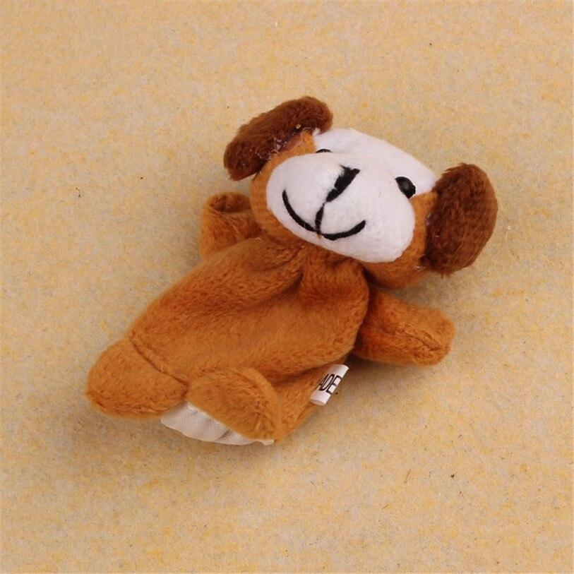 HOT 2 Pcs Cão Macio Animal Fantoche de Dedo Do Bebê Infantil Kid Brinquedo de Pelúcia Brinquedos DE SETEMBRO de 01