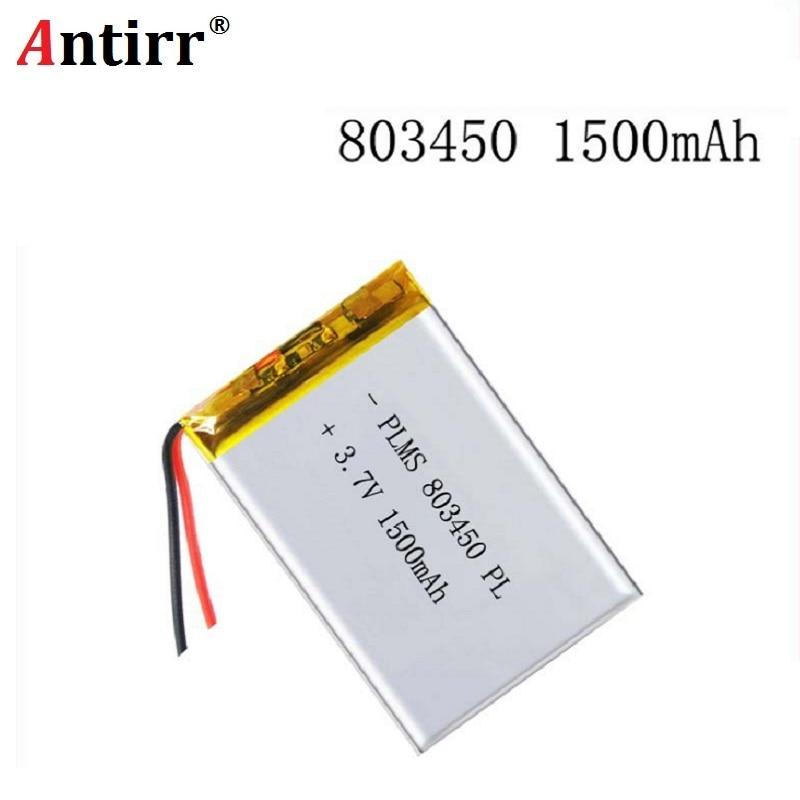 3,7 V 1500mAH 803450 PLIB polymer lithium-ion/Li-Ion batterie für GPS mp3 mp4 mp5 dvd bluetooth modell spielzeug