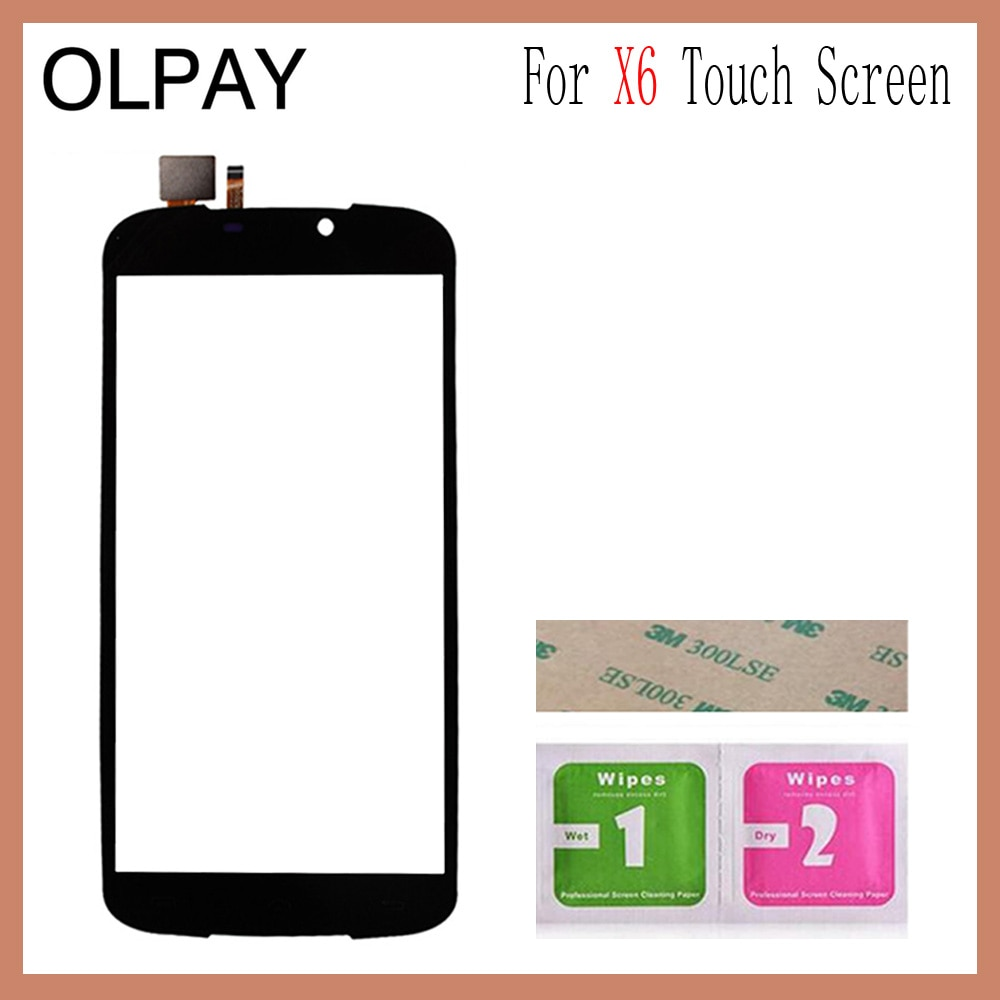 5.5'' Mobile Touch Screen Glass For Doogee X6 Touch Screen Digitizer Glass Panel Lens Sensor Tools Free Adhesive and Wipes