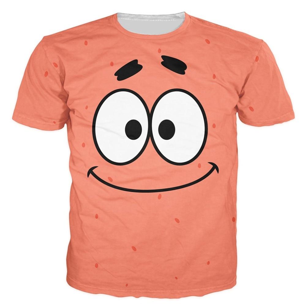 New Arrival It's Me Patrick Mockup 3D T Shirt Funny Short Sleeve T-shirt Men Fashion cartoon tee shits tops