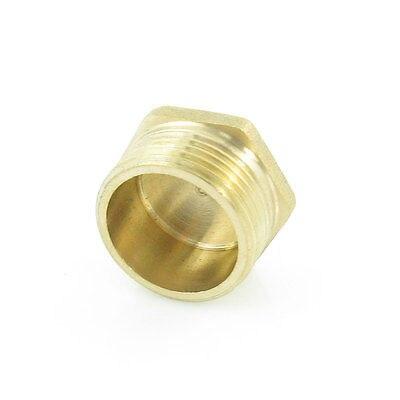Toma para cabezal hexagonal interno de latón 1/4PT 1/8PT 1/2PT 3/8PT conector de tubo roscado tono dorado 1 ud.