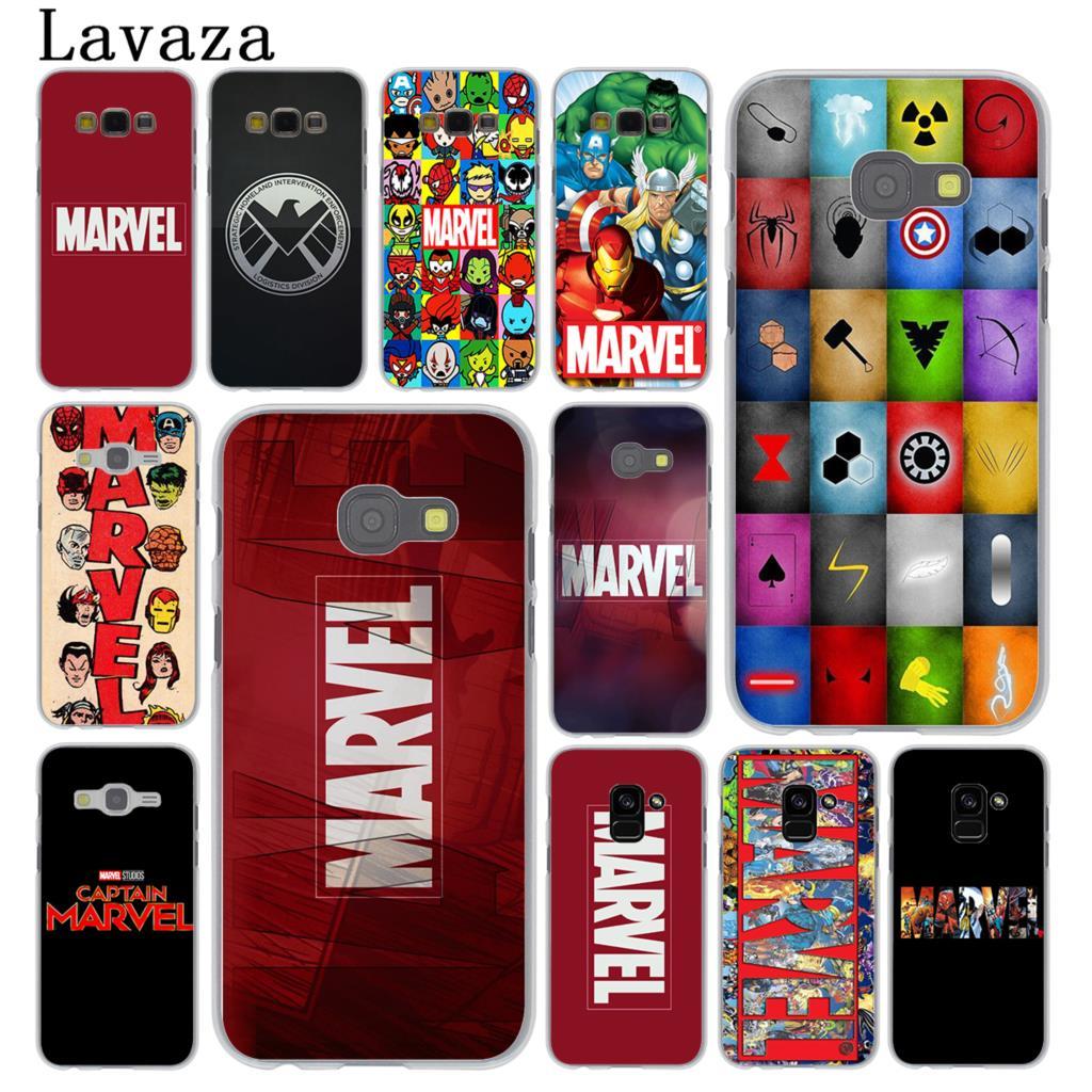 Lavazza luksusowe z logo marvel comics etui na telefon do Samsung Galaxy Note 10 9 8 A9 A8 A7 A6 Plus 2018 A3 A5 2017 2016 2015 A2 pokrywa
