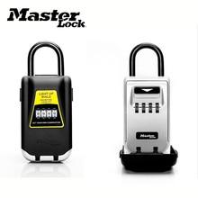 Key Safe Box Keys Storage Outdoor Padlock Combination Light Up Dial Portable Lock Box Password Lock Keys Hook For Home Office