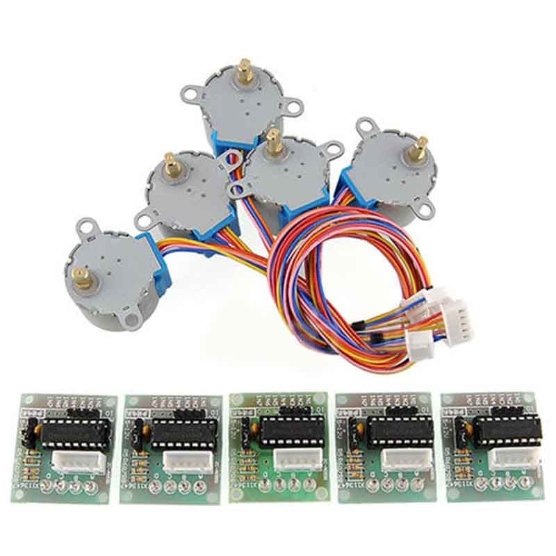 5pcs New Brand ULN2003 28BYJ-48 5V Reduction Step Motor Gear Stepper Motor 4 Phase Step Motor for ar