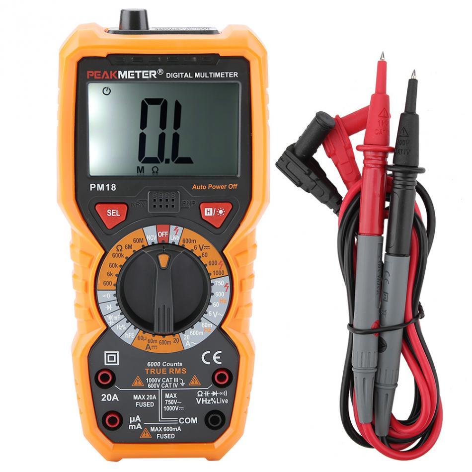Instrumento de Medição Eletricista Portátil Multímetro Digital Tensão Corrente Resistência Tester Pm18