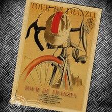 Affiche graphique de Bicycyle Vintage   Étiquette murale, peinture artistique, affiche rétro imprimée, classique bar pub café, décoration de la maison 42x30cm