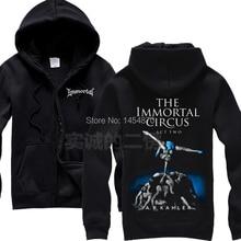 8 kinds Zipper hoodie Norway Dancers Immortal Rock Sweatshirt winter jacket coat shirt punk dark metal tracksuit sudadera XXXL