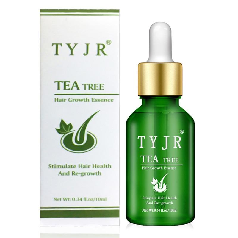 Crecimiento del cabello árbol del té aceite para masaje tratamiento líquido anticaída del cabello suero Original auténtico crecimiento del cabello