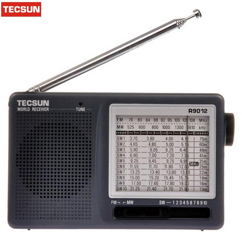 Drop Schiff TECSUN R-9012 12 Band FM/AM/SW Radio Multiband Radio Empfänger Tragbare Beste Y4122H Tecsun R9012 radio Desheng Radio