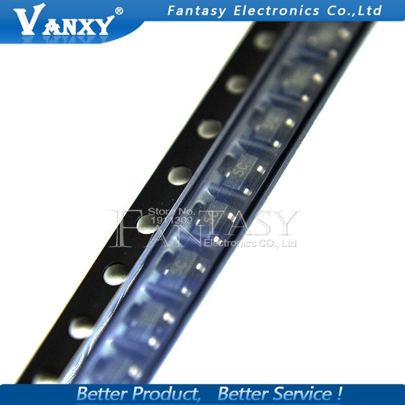 100 pces BC807-40 sot23 bc807 sot 807-40 sot-23 pnp transistor de uso geral novo e original