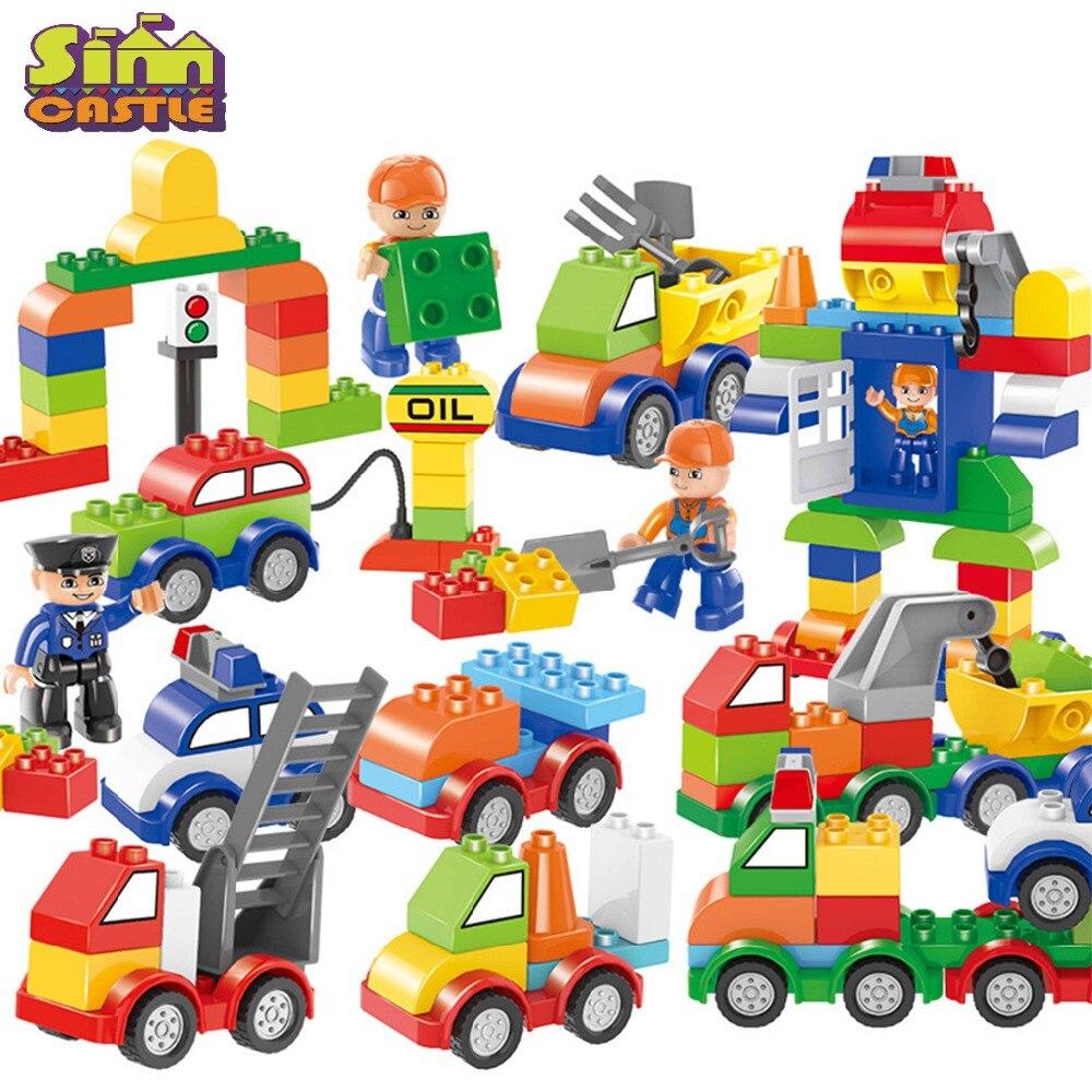 SIMCASTLE строительные блоки с большими частицами 53 106 шт. для автомобилей и роботов