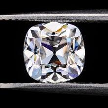Pierres précieuses en vrac de moissanites de forme de coussin def de 6*6mm pour la fabrication de bijoux testé positif OMC