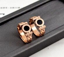 YUN RUO Rose Gold Farbe Schwarz Römischen Ziffern Ring für Frau Mann Paar Schmuck 316 L Edelstahl Ring Top qualität Nie Verblassen