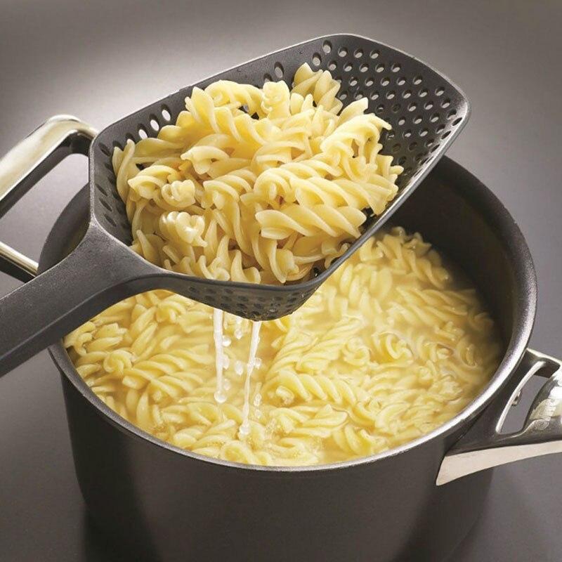 Colador de verduras palas de cocina verduras patatas fritas cuchara colador cuchara de Nylon grande colador sopa utensilios para filtro de cocina