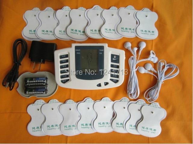JR-309 caliente ruso inglés o estimulador eléctrico cuerpo muscular masajeador terapia pulso decenas acupuntura + 16 pastillas