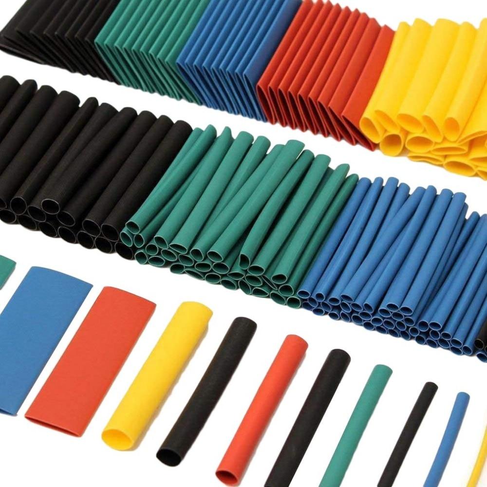 328 piezas eléctrico de Cable retráctil tubo Bluetooth para coche aislamiento de alambre de manguito termorretráctil envoltura tubo de poliolefina