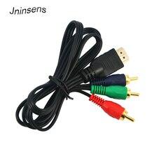 Горячая Распродажа 1080p HDMI на 3 RCA кабель 1 м 3 фута Видео Аудио HDMI VGA AV компонентный шнур линия преобразования адаптер для HDTV высокое качество