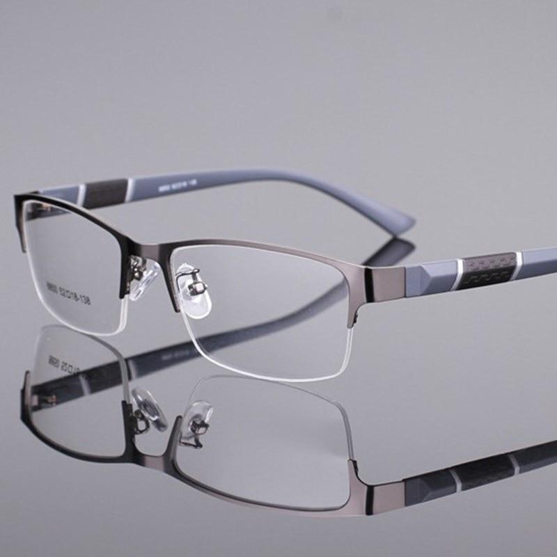 Gafas Cubojue para hombre, gafas de moda para hombre, gafas graduadas para miopía, gafas ópticas Semi sin montura, gafas masculinas