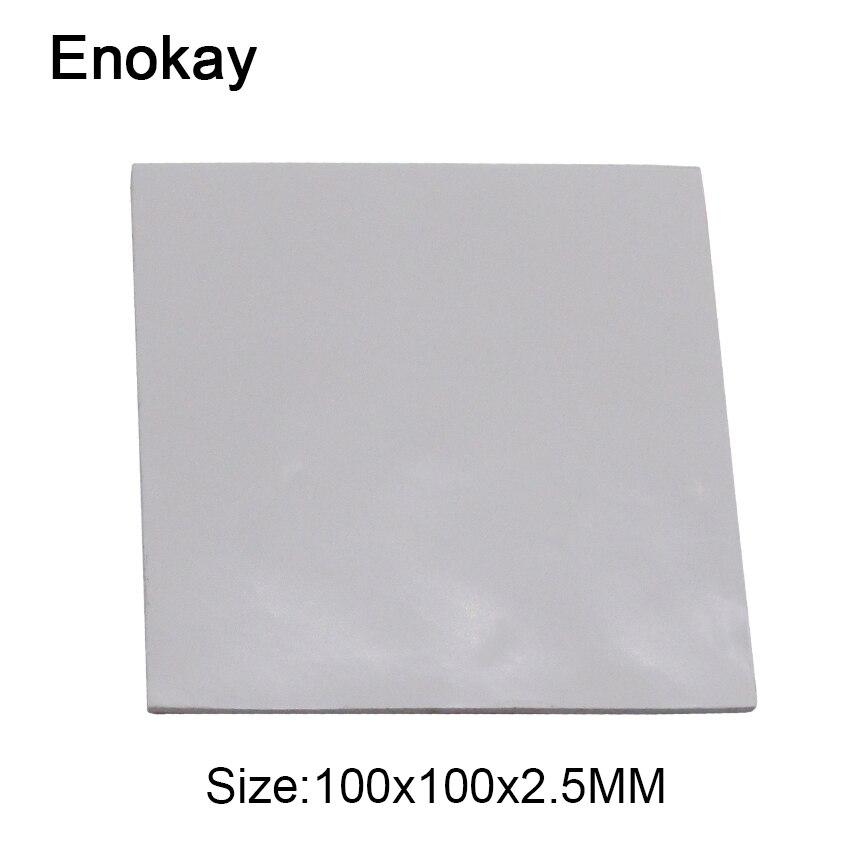 Enokay 100 мм x 100 мм x 2,5 мм проводящие силиконовые термальные прокладки