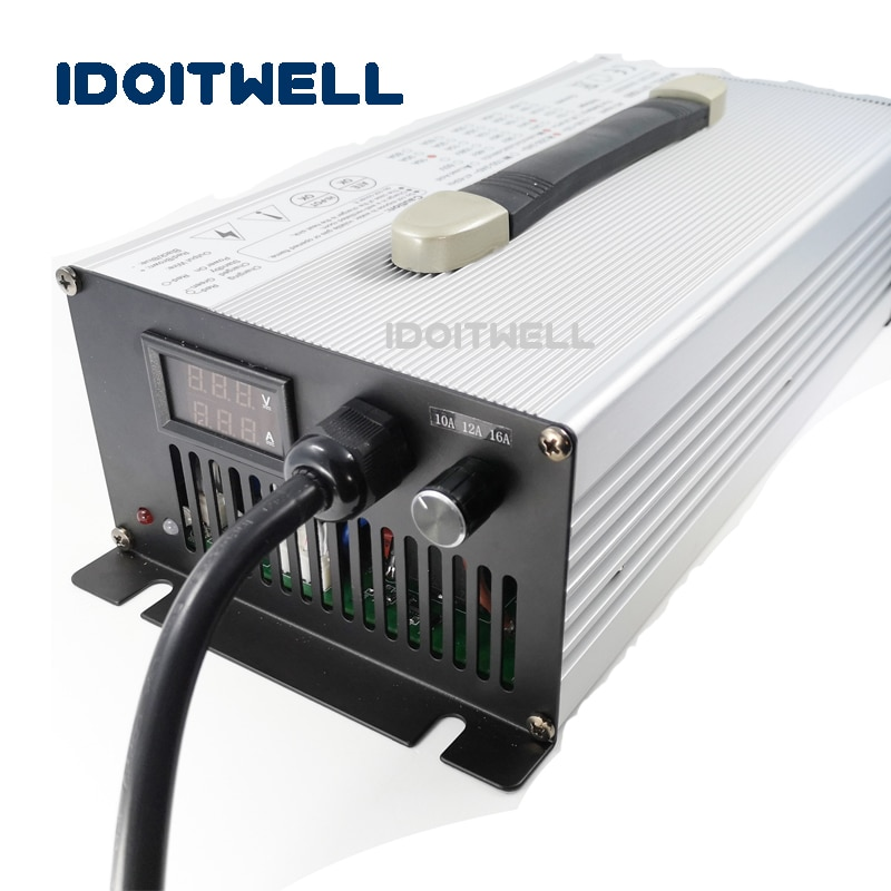 Cargador de batería personalizado 36V 20A 15A 10A para 30AH 60AH 100AH 200AH 36v batería de litio 36v batería de plomo-ácido Lifepo4