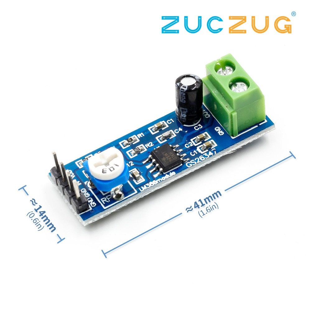 Diy lm386 super amplificador de áudio 200x ganho lm386 mono amplificador placa do módulo 5-12v
