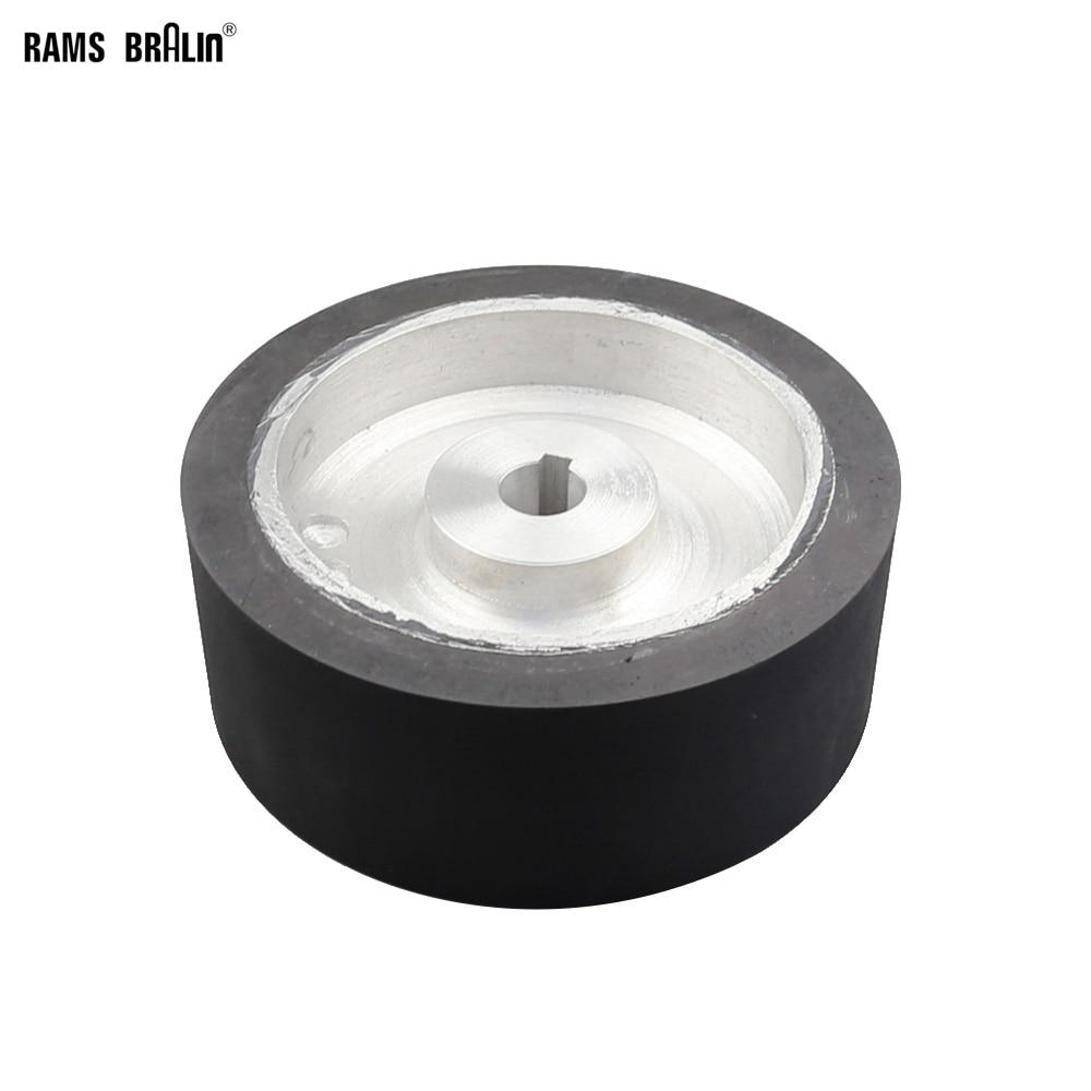 200*75*24 мм твердое резиновое Контактное колесо с 8*3 мм Keyslot Динамически сбалансированный ленточный шлифовальный станок активное колесо