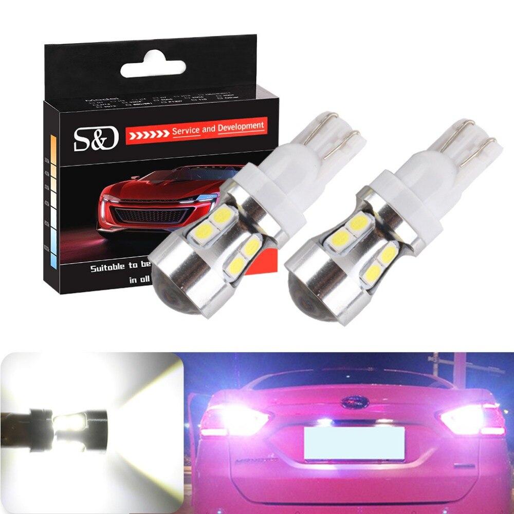 T10 T15 Canbus OBC bombillas libres de Error Interior LED DRL 194 W5W lámparas de coche luces externas de estacionamiento automático 10-SMD 3030 blanco D030