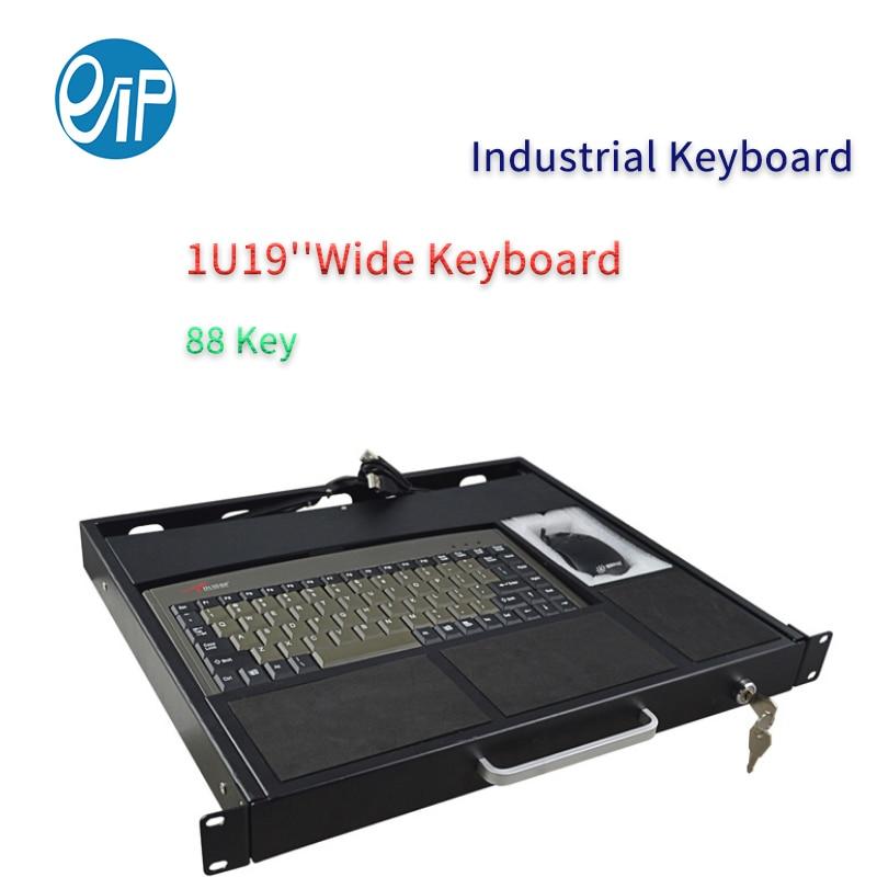 88key الصناعية 1U19 بوصة لوحة المفاتيح