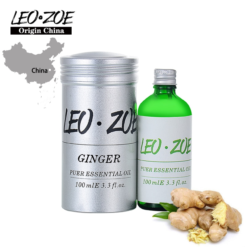 LEOZOE Ginger Essential Oil Certificate Of Origin China High Quality Ginger Oil 100ML Etherische Olie Coconut Oil