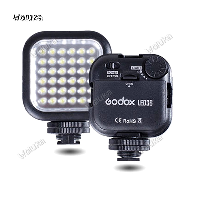 Godox LED36 Cámara Led iluminación SLR LED36 Luz de vídeo al aire libre foto luz para DSLR Cámara videocámara mini DVR CD50 T03