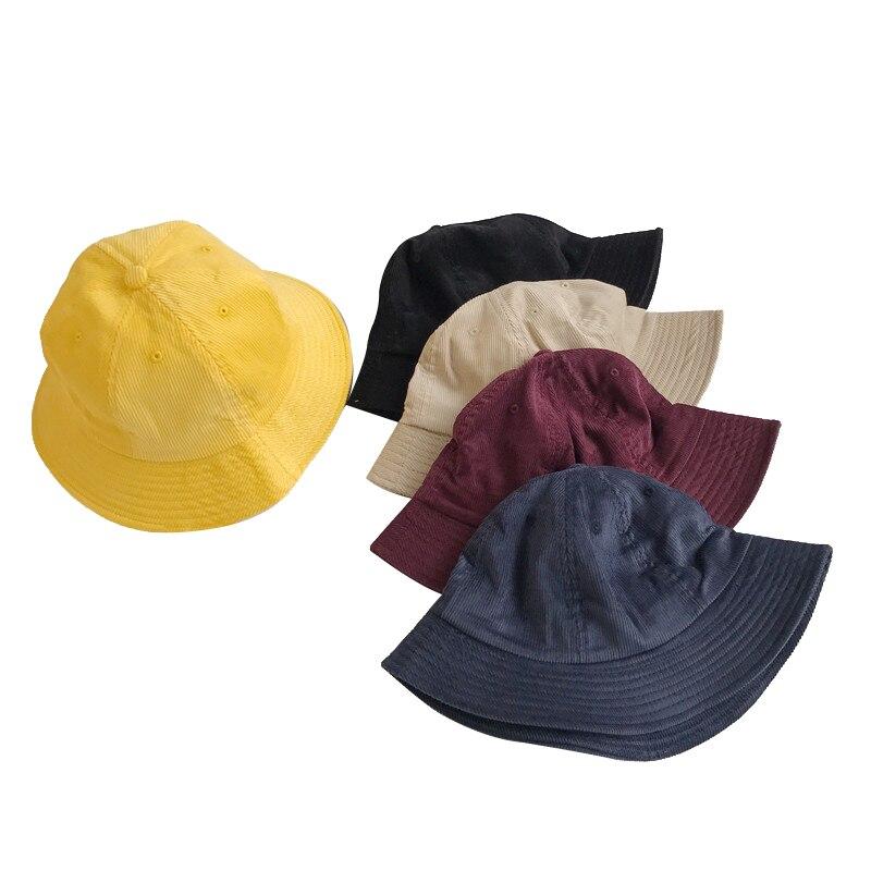 Al aire libre sombrero de pesca para sol para las mujeres pescador sombrero Panamá sombrero de Bob de algodón de verano de marca de cubo sombrero de los hombres de Hip Hop de pana de sombreros