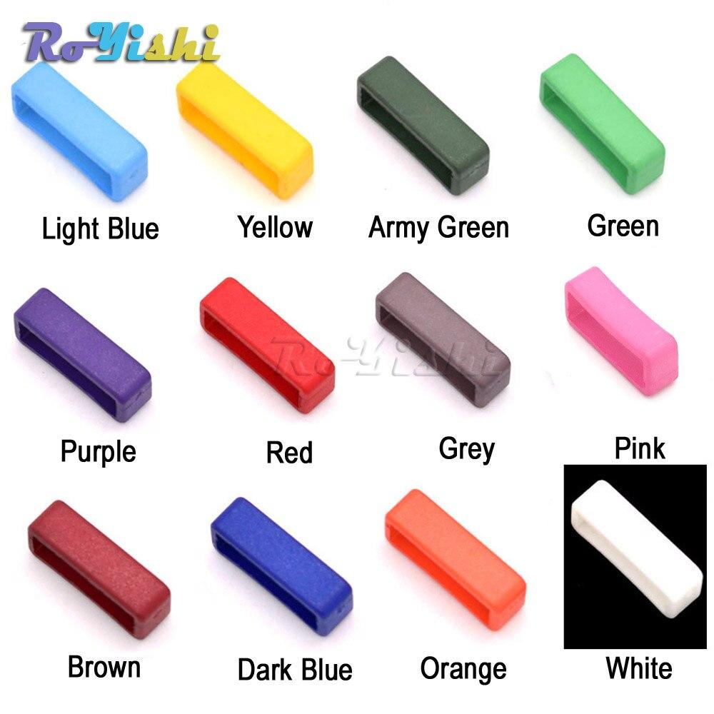 "12 unidades/pacote de 3/4 ""(20mm) Colorido Belt Loop Keeper para Dog Collar Harness Mochila Correias"