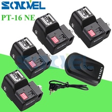 PT-16 NE 16 canaux sans fil Radio Flash set de déclenchement + 4 récepteurs avec porte-parapluie pour Canon Nikon Pentax Godox Yongnuo