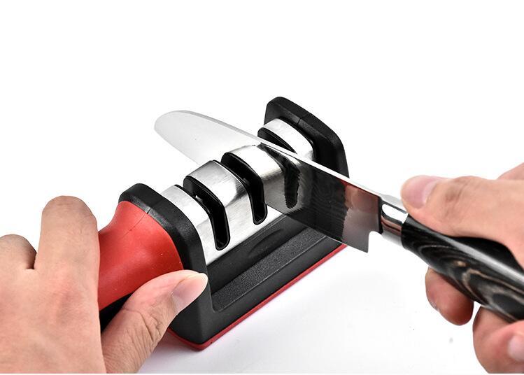 Profissional apontador de faca diamante carboneto de aço tungstênio faca cerâmica afiar ferramentas de cozinha