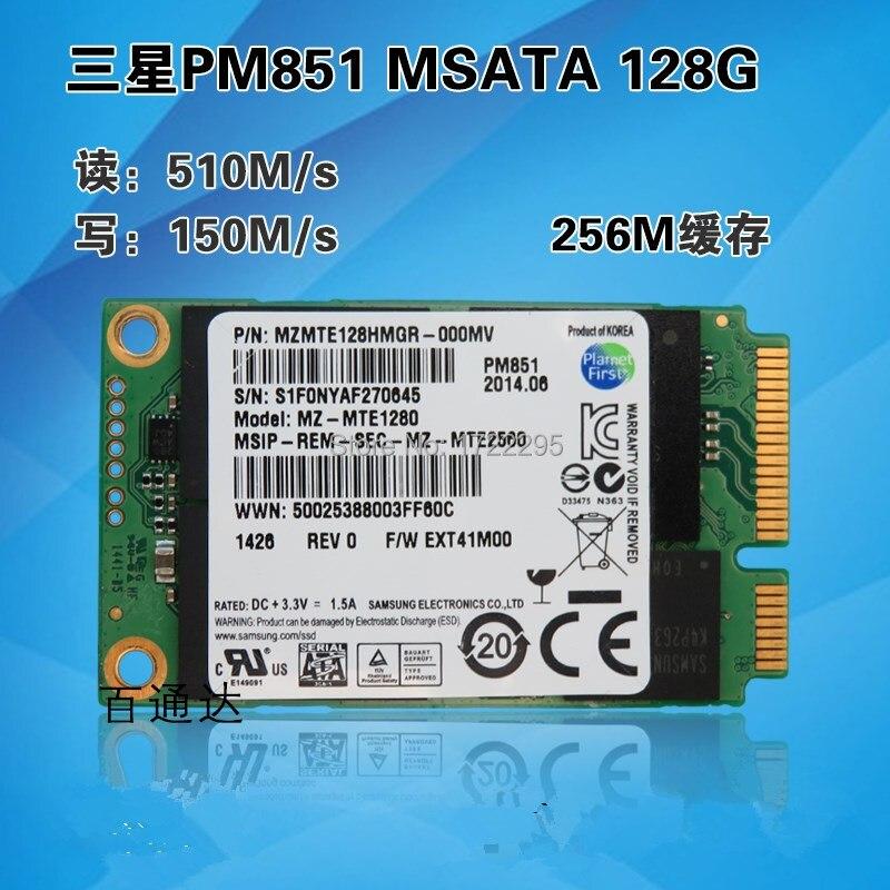 New Original for Samsung PM851 128G MSATA3  notebook Mini solid-state hard disk MSATA SSD solid state drive